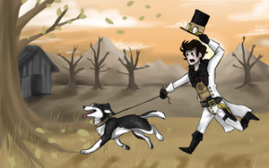 "Fable 3 - ""Walking"" the dog by wtfImunconscious"