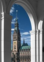 City Hall in Hamburg II by pingallery