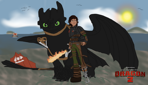 Hiccup and Toothless (HTTYD 2) by Golloperaa