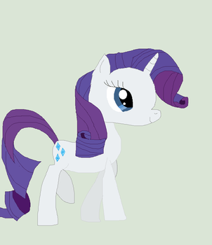 Rarity Walking (Drawing test) by Rarity-Vore