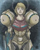 Samus the saviour by FischHead