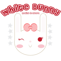 white bunny face by Lucora