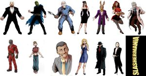 Slashermania Chars by Asaph