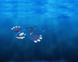 Kyogre, the Sea King by KeganVfar
