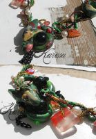 Necklace with dragons details by Karasu-Helena