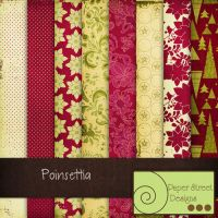 poinsettia-paper street designs by paperstreetdesigns