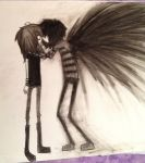 My fallen angel and me by Windy1311