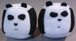 Panda Cube Plushies by eternityOnlooker