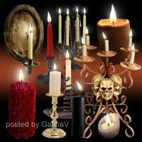 PSD Clipart Candles and Candelabrums by GalinaV