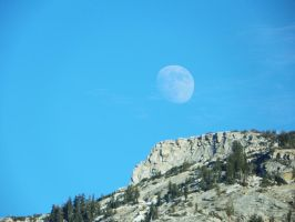 Winter Moon Over Unicorn Peak by Synaptica