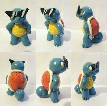 Squirtle Squad Captain figure by TerraLove