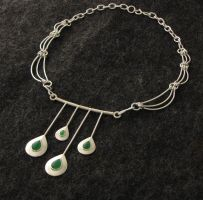 Jade Droplet Pendant and chain by timjo