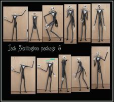 Jack skellington pack 5 by Adaae-stock