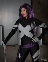Comikaze 2014 Psylocke Photoshoot 6 by CarolineCosplay