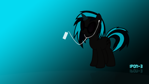 Wallpaper - Vinyl Scratch Ipod Silhouette by Vetali