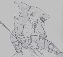 Unnamed Wereshark by TheLordofShadows