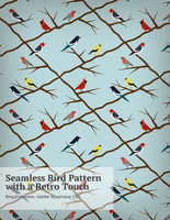 Retro-Bird-Pattern by pica-ae
