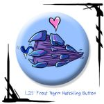 Frost Wyrm Hatchling Button by BunnyBennett