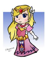 Princess Zelda Chibi by Sacari