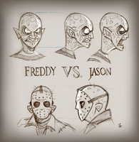 Freddy Vs. Jason [sketches] by inkjava