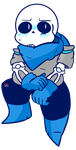 A flustered Blueberry Sans by Bloody-Uragiri