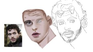 Rob Stark - Richard Madden Unfinished Portrait by Yurusen