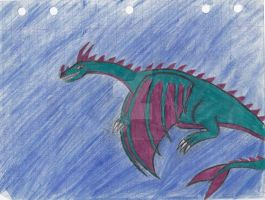 Old Art from 6th grade (year 1990) (Dragon2) by Gneiss-chert
