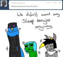 Not everyone likes the Wither by Ask-Creeps-and-Lanky