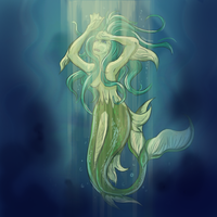 Peering from the Depths by Alerane