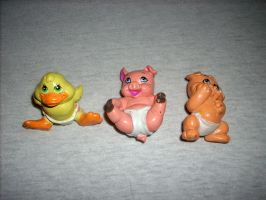 Magic Diaper Animal Babies Toys of the 90s by kratosisy