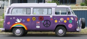 combie  van hippy purple by scratzilla