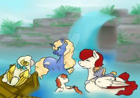 A Family Swim: Comission by Nissatron5000