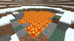 Minecraft - lava in a tundra by Tryzon