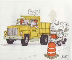 Highway Workers by RABBI-TOM
