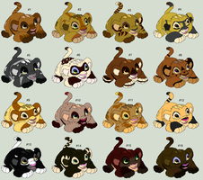 Adoptable Lion Cubs by MyNameIsAdrien