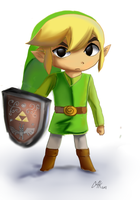 Toon link by Arkel-chan
