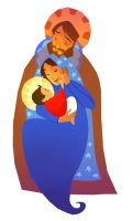 Holy Family by fabiolagarza