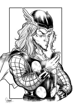 Thor with his HandPhone by mamatrozi