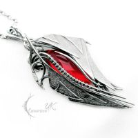 AXENTURN - silver and red quartz by LUNARIEEN