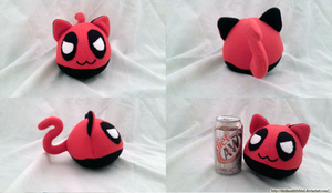 Deadpool Kitty Mochi by Deidaraslittlebird