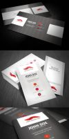 Stripe Style Business Card by glenngoh