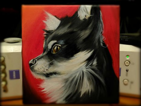 chihuahua oil portrait by sully365