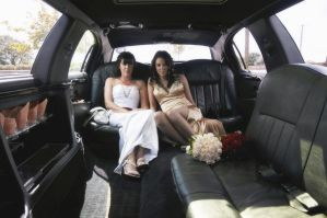 Mary and Karen in the limo by lornamacdonald
