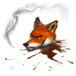 Fox Head Commission (Blood) by Urnam-BOT