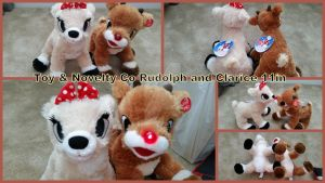 Toy and Novelty Co Rudolph and Clarice 11in by Vesperwolfy87