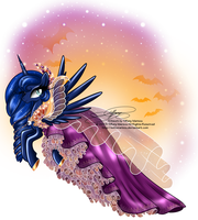 Princess Luna - Special Halloween Dress by selinmarsou