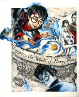 Harry Potter Drawn Collage by Sicko7