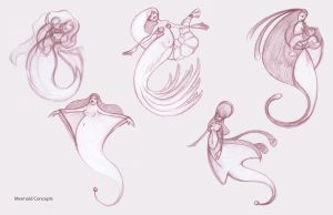 Mermaid Concepts by Clara-Coon