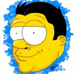 Simpsons self portrait by BigEvilGorilla
