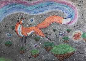 Fox in Space by Narncolie